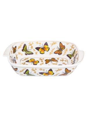 Шубница Бабочки Elan Gallery. Цвет: желтый, белый, золотистый