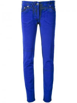 Узкие брюки-стретч Courrèges. Цвет: синий