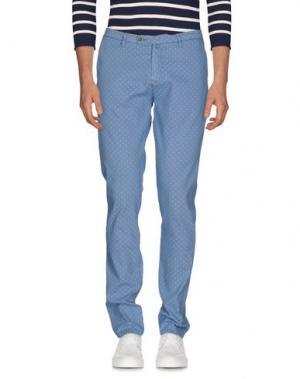 Джинсовые брюки BARBATI. Цвет: синий