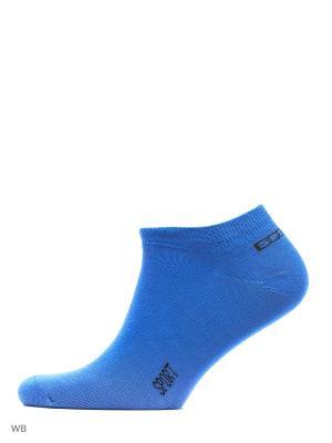 Носки, 3 пары Хох. Цвет: синий, оранжевый, салатовый