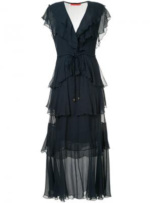 Платье макси Gypsy с оборками Manning Cartell. Цвет: синий