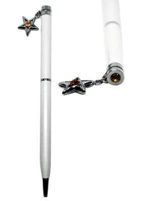 Ручка со  зездочкой CRYSTOCRAFT. Цвет: серебристый, белый