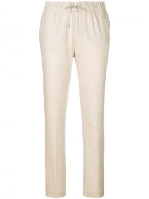 Трикотажные брюки кроя слим Fabiana Filippi. Цвет: телесный