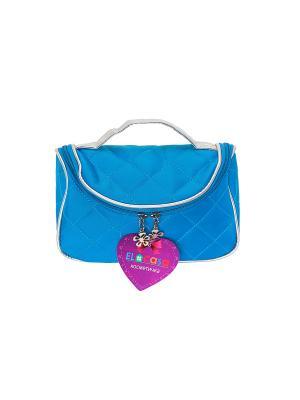 Косметичка - сумочка Голубая EL CASA. Цвет: голубой