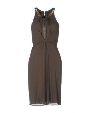 Платье до колена PF PAOLA FRANI. Цвет: темно-зеленый