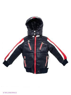 Куртка Cherche. Цвет: темно-синий, красный, белый