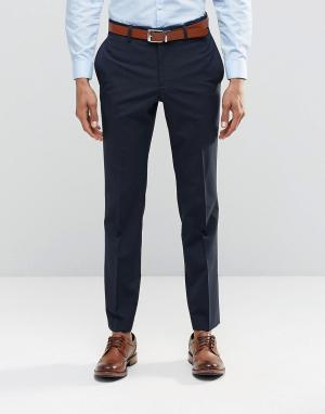 ASOS Темно-синие брюки слим. Цвет: темно-синий