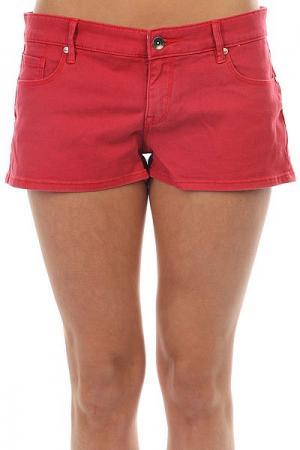 Шорты джинсовые женские  Andalousia Hibiscus Roxy. Цвет: красный