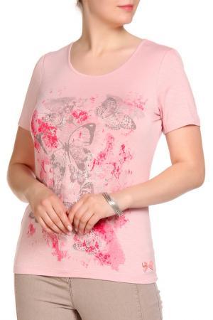 Блуза LOLA PALTINGER. Цвет: розовый