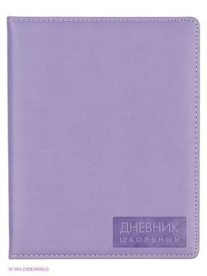 Сиреневый (ДУК164810) ДНЕВНИК (ИСКУССТВ. КОЖА) Канц-Эксмо. Цвет: сиреневый