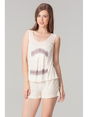 Пижама женская Tesoro.. Цвет: светло-бежевый