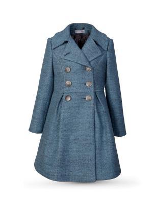 Пальто Миранда Alisia Fiori. Цвет: серо-голубой, голубой, бронзовый
