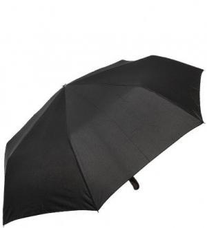 Складной зонт с прорезиненной ручкой Doppler. Цвет: черный