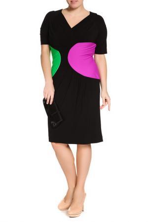 Платье Maria Grazia Severi. Цвет: черный, зеленый