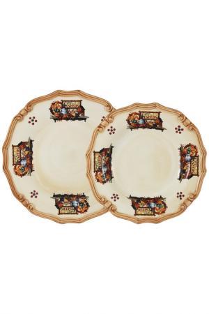 Набор тарелок Садовые цветы LCS. Цвет: мультиколор