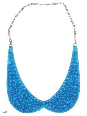 Ожерелье-воротник Bizon. Цвет: голубой