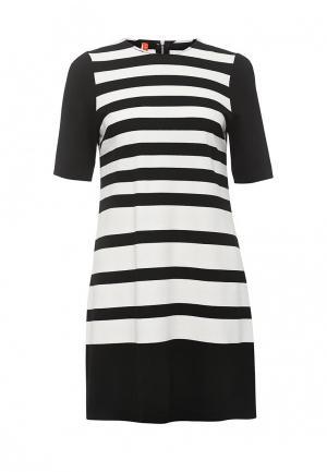 Платье Imperial. Цвет: черно-белый