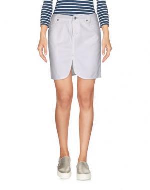 Джинсовая юбка E_GO' SONIA DE NISCO. Цвет: белый