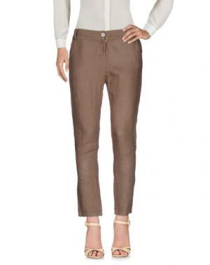 Повседневные брюки MISS MONEY. Цвет: хаки