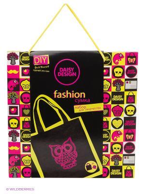 Набор для декорирования сумочки NEONСова Daisy Design. Цвет: черный