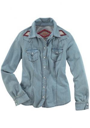 Джинсовая рубашка Arizona. Цвет: синий