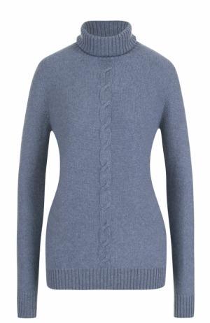 Кашемировый свитер прямого кроя с высоким воротником Loro Piana. Цвет: синий