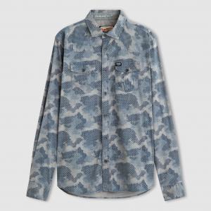 Рубашка с рисунком PETROL INDUSTRIES. Цвет: серый