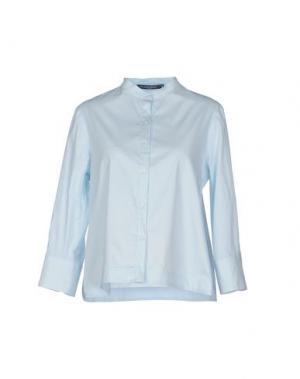 Pубашка LA CAMICIA BIANCA. Цвет: небесно-голубой