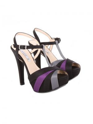 Босоножки Albano. Цвет: черный,серый,темно-фиолетовый