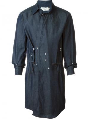 Приталенное пальто Mow. Цвет: синий