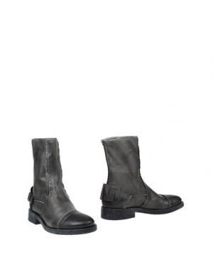 Полусапоги и высокие ботинки DÉBUT. Цвет: серый