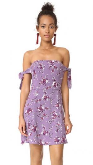 Мини-платье Duffy WAYF. Цвет: лавандовый цветочный принт