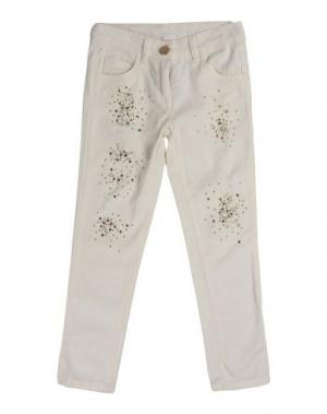 Джинсовые брюки MISS GRANT. Цвет: слоновая кость