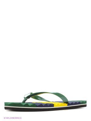 Шлепанцы LAMALIBOO. Цвет: зеленый