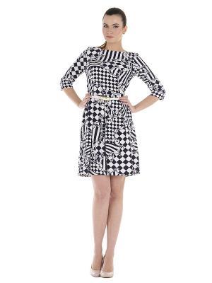 Платье PROFITO AVANTAGE. Цвет: белый, темно-синий