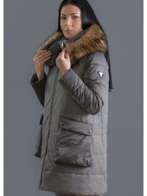 Пальто MADZERINI. Цвет: серый