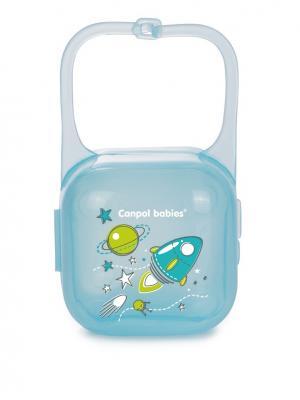 Контейнер для пустышки - Machines, цвет: бирюзовый, рисунок: ракета Canpol babies. Цвет: бирюзовый