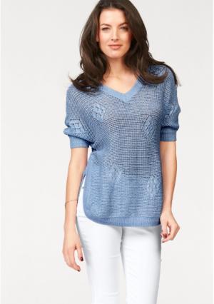 Пуловер VIVANCE. Цвет: аква