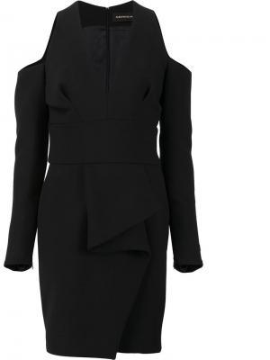 Deep V-neck fitted dress Alexandre Vauthier. Цвет: чёрный