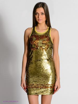 Платье Camelot. Цвет: золотистый, светло-серый