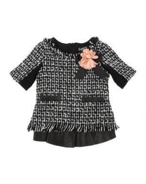 Платье MICROBE. Цвет: черный
