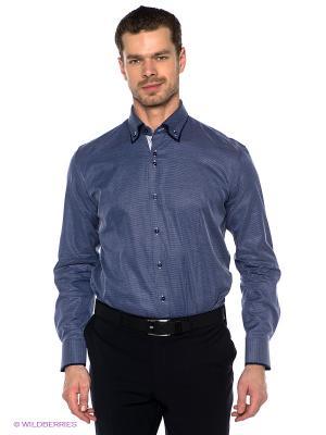 Рубашка GroStyle. Цвет: темно-синий, белый