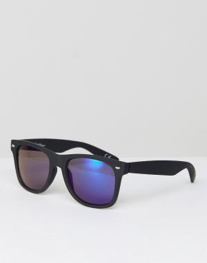 Jeepers Peepers Квадратные черные солнцезащитные очки. Цвет: черный