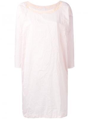 Three-quarters sleeve shift dress Daniela Gregis. Цвет: телесный