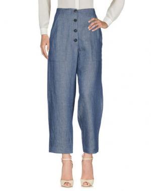 Повседневные брюки TELA. Цвет: синий