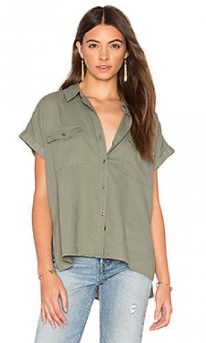 Рубашка brittany Rails. Цвет: серовато-зеленый