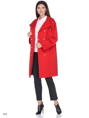 Пальто Shokolat. Цвет: красный