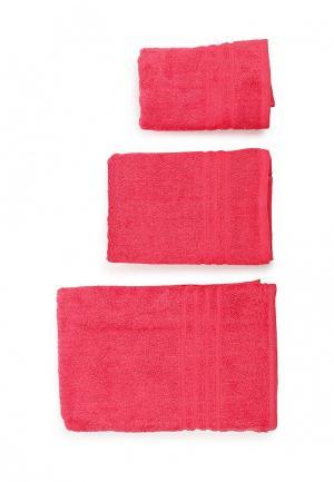 Комплект полотенец 3 шт. Arloni. Цвет: розовый
