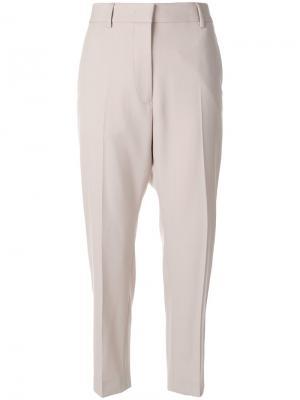 Укороченные брюки Jil Sander. Цвет: телесный