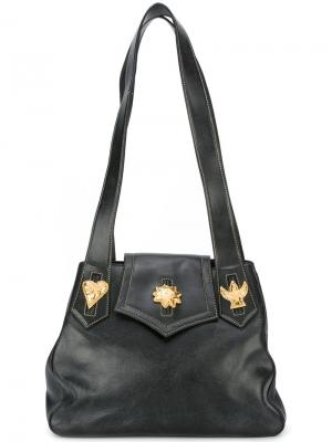 Сумка на плечо с украшениями Christian Lacroix Vintage. Цвет: чёрный